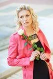 dziewczyna kwiat dziewczyna Fotografia Stock