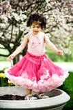 dziewczyna kwiaty ogrodu Obraz Stock