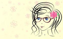 Dziewczyna kwitnie tło Obrazy Stock