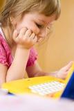dziewczyna laptop Fotografia Stock