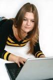 dziewczyna laptop Obraz Stock