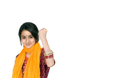 dziewczyna laptopa hindusa komputerowy Zdjęcia Stock