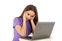 dziewczyna laptopa young Zdjęcia Stock