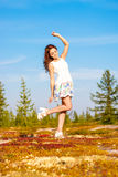 dziewczyna lasów, Zdjęcia Stock