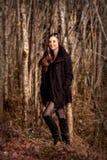 dziewczyna las?w, fotografia stock