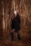 dziewczyna las?w, obraz royalty free