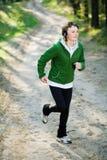 dziewczyna lasowy biegacz Obraz Royalty Free