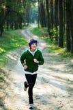 dziewczyna lasowy biegacz Zdjęcie Stock