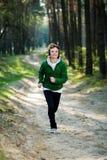 dziewczyna lasowy biegacz Zdjęcie Royalty Free