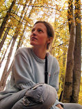 dziewczyna leśna Fotografia Royalty Free