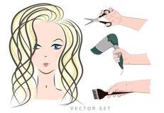 Dziewczyna lekki włosy Zdjęcie Stock