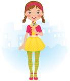dziewczyna lizak ilustracja wektor