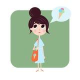 Dziewczyna lubi lato Ilustracja Wektor