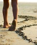 dziewczyna małe jej nogi Obraz Stock