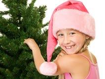 dziewczyna mały Santa Zdjęcie Stock