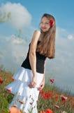 dziewczyna maczki Zdjęcie Royalty Free