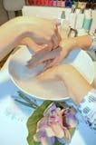 Dziewczyna manicure obraz royalty free