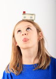 Dziewczyna marzy o domu Obraz Stock