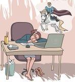 Dziewczyna marzy o książe ilustracji