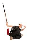 dziewczyna miecz wushu zdjęcia stock