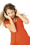 dziewczyna hełmofon Fotografia Stock