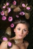 dziewczyna motylia Obraz Royalty Free