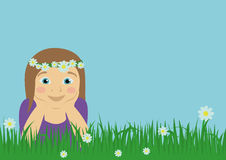 Dziewczyna na łące Ilustracji