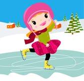 Dziewczyna na łyżwach Zdjęcie Stock