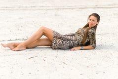 Dziewczyna na betonowym skłonie Zdjęcie Royalty Free