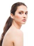 Dziewczyna na białym tle Fotografia Stock
