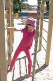 Dziewczyna na boisku Zdjęcia Stock