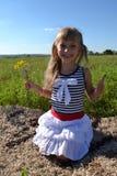 Dziewczyna na haliźnie Zdjęcie Royalty Free