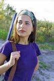 Dziewczyna na jesieni polowaniu zdjęcie royalty free