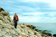 Dziewczyna na morzu Zdjęcie Royalty Free