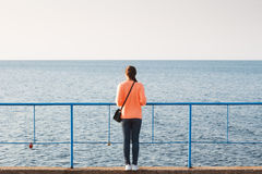 Dziewczyna na morzu Obrazy Royalty Free