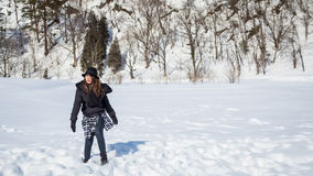 Dziewczyna na śniegu Fotografia Stock