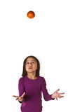 Dziewczyna na odosobnionym tle Obrazy Royalty Free