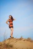 Dziewczyna na piasku Obrazy Stock