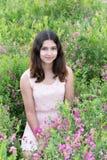 Dziewczyna na pięknej łące Fotografia Royalty Free