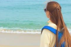 Dziewczyna na plaży Zdjęcia Royalty Free