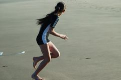 Dziewczyna na plaży Fotografia Stock