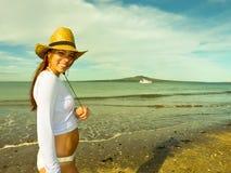 Dziewczyna na plaży Obraz Royalty Free