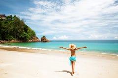 Dziewczyna na plaży Obrazy Stock
