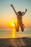 Dziewczyna na plaży Zdjęcie Stock