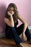 Dziewczyna na podłoga Zdjęcie Stock