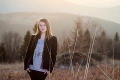 Dziewczyna na polu Zdjęcie Stock