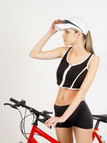 dziewczyna na rowerze Fotografia Stock