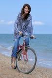 dziewczyna na rowerze Zdjęcia Royalty Free