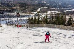 Dziewczyna na snowboard Fotografia Royalty Free