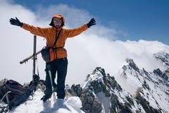 dziewczyna na szczyt Zdjęcie Stock